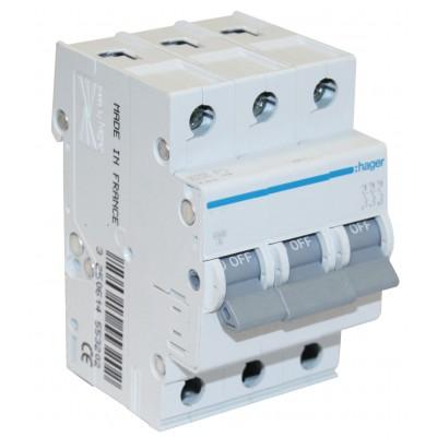 Автоматический выключатель (3p, 63А) Hager MC363A