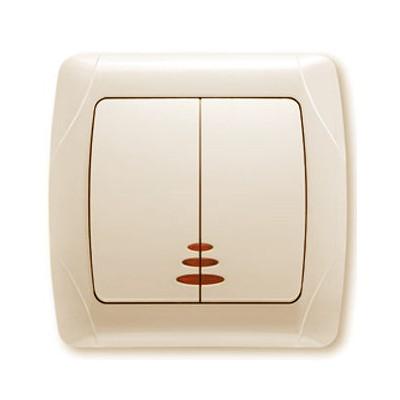 Выключатель 2-кл.с подсветкой крем ViKO Carmen 90562050