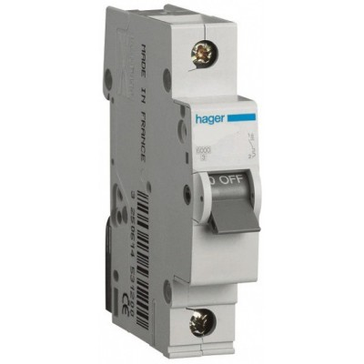 Автоматический выключатель (1p, 10А) Hager MC110A