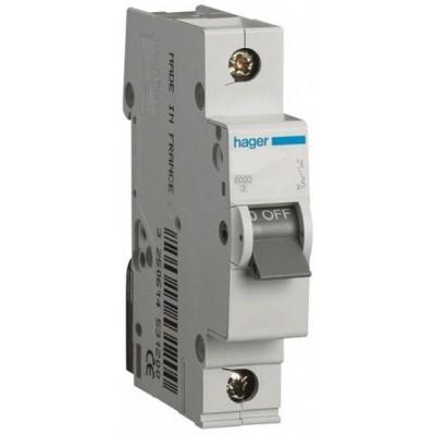 Автоматический выключатель (1 p, 63А) Hager MC163A