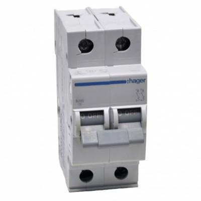Автоматический выключатель (2p, 63А) Hager MC263A