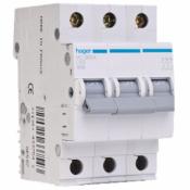 Автоматический выключатель (3p, 10А) Hager MC310A