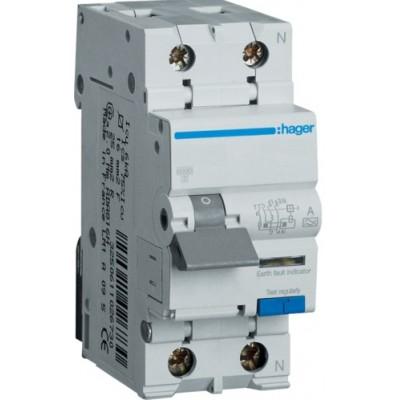 Дифференциальный автоматический выключатель (25A, 30 mA, C, 6 КА, A) Hager AD975J
