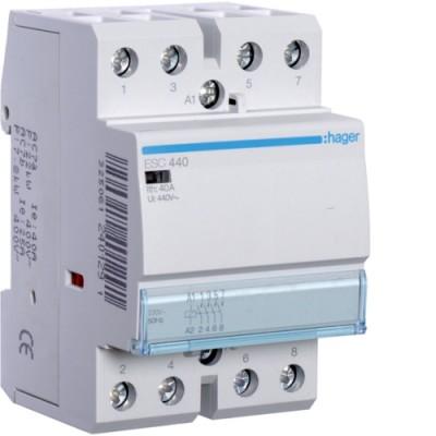 Контактор стандарт (4 Н.О. 40А 230АС 3м) Hager ESC440