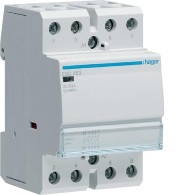 Контактор стандарт (4 Н.О. 63А 230АС 3м) Hager ESC463