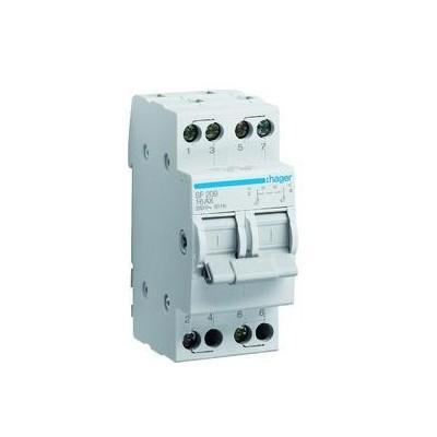 Переключатель перекидной (l-O-ll с центральным положением откл.2p 40А 230В) Hager SFT240
