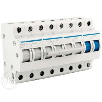 Модульный переключатель перекидной питающих видов (3p 63А 380В) Hager SF264